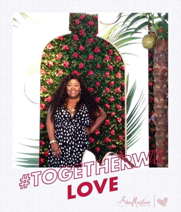SheaMoisture's New Orleans pop-up shop, plus size polka dot dress, SheaMoisture, New Orleans, plus size blogger, how to layer gold chains