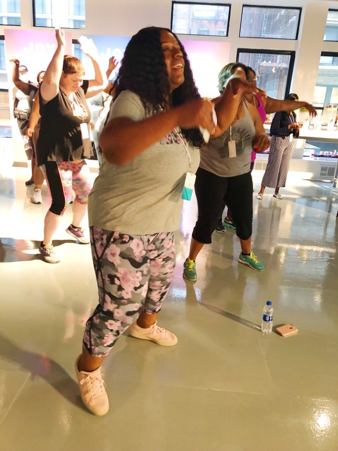 theCurvycon Fitness Session Presented byTarget, beyonce plus size dancer, thecurvycon, plus size fitness