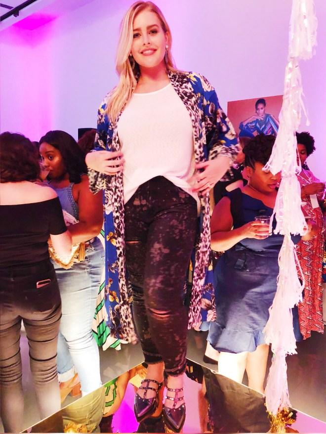 Rachel Roy, theCURVYcon, Macy's plus size, platinum party, plus size event