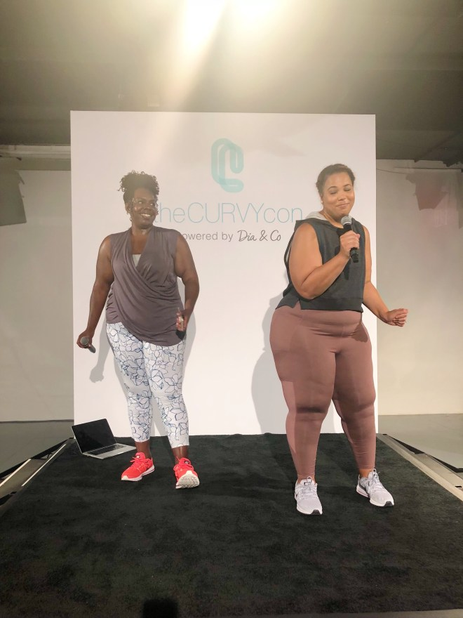 theCurvycon Fitness Session Presented byTarget, beyonce plus size dancer, thecurvycon, plus size fittness