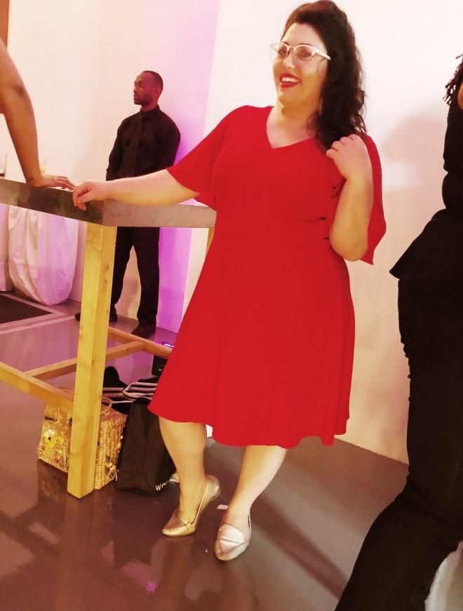 theCURVYcon, Macy's plus size, platinum party, plus size event, plus size fashion, plus size red dress