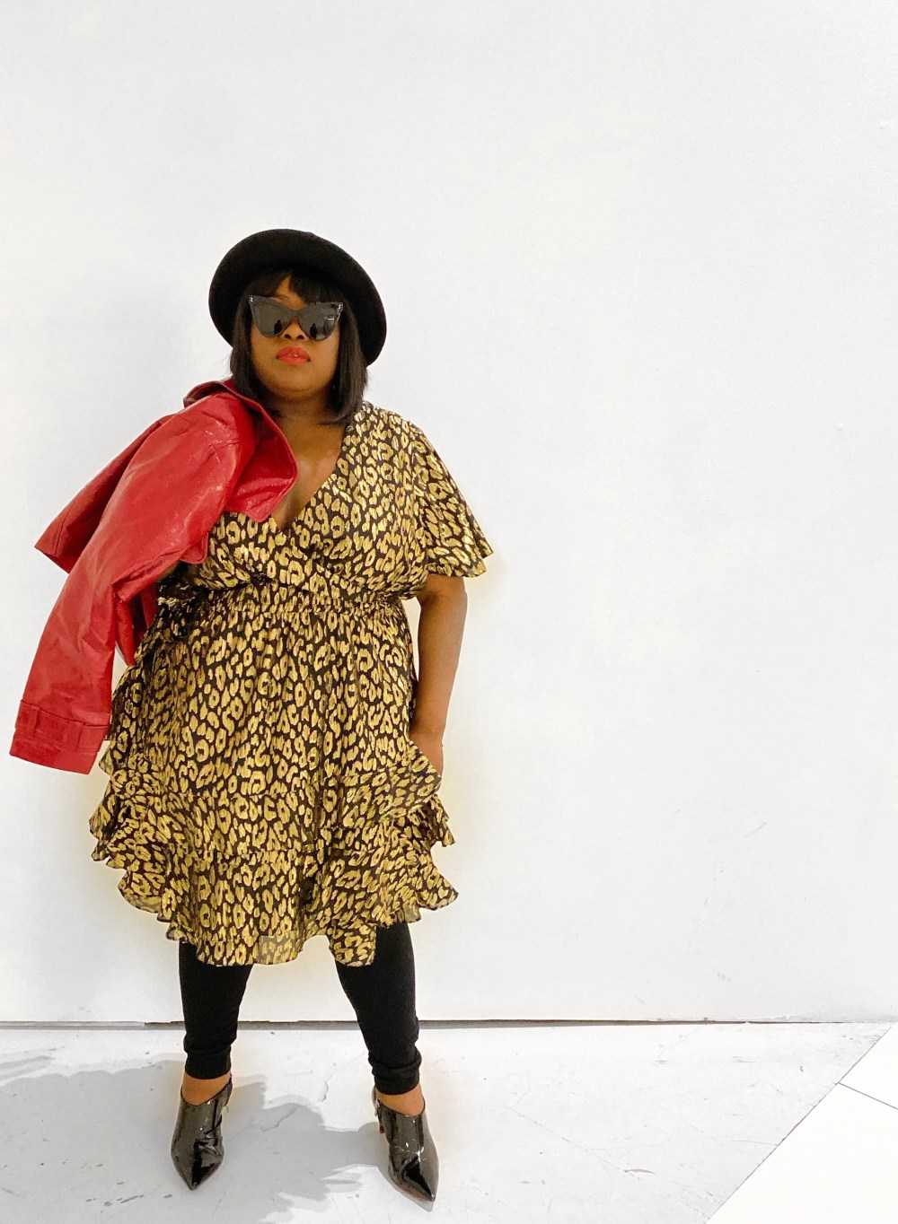 ASHLEY STEWART X KENDALL + KYLIE | CHEETAH DRESS, plus size brunch look