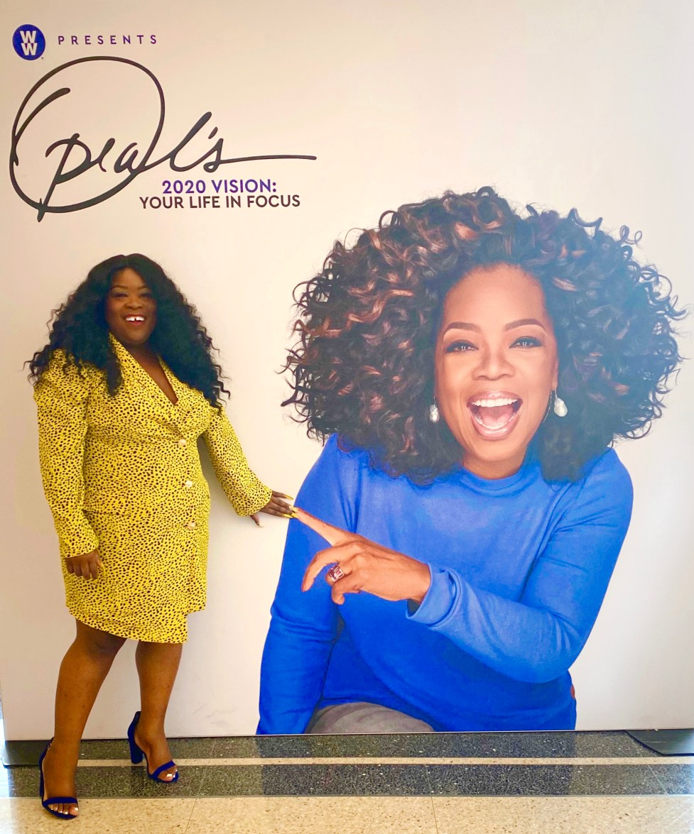 My Day With Oprah, Tracee Ellis Ross, Oprah, WW, Dallas, 2020 Vision Tour, Your life in focus