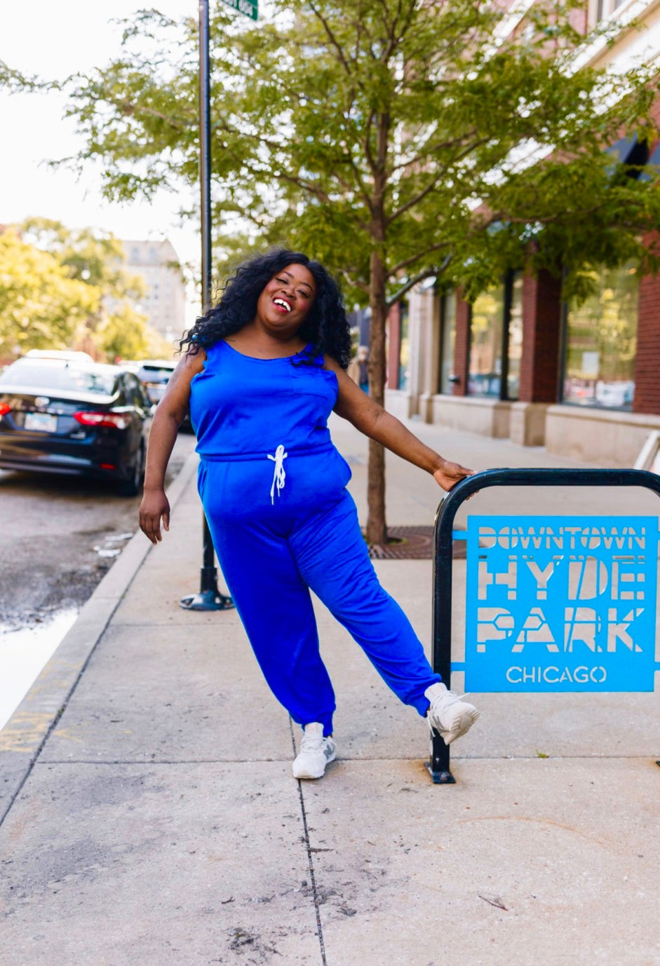 Dia & Co Jumpsuit For The Win, blue plus size jumpsuit