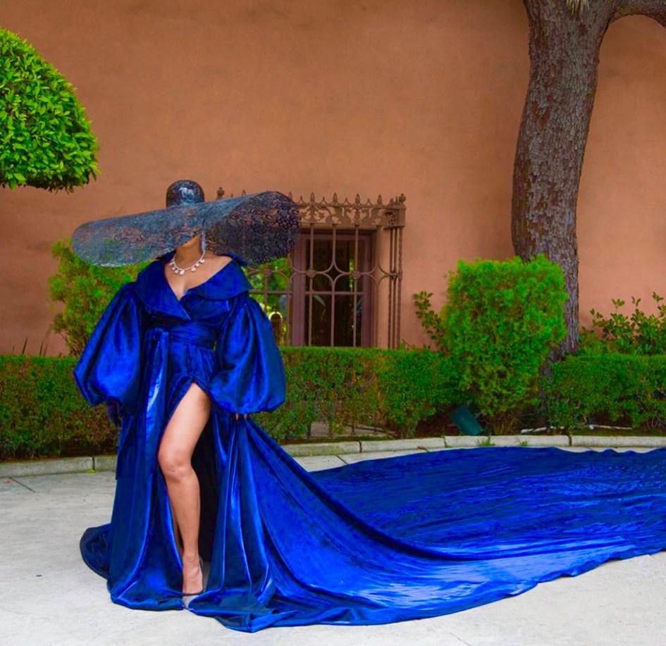 #BLACKISKING is but make it plus - blue dress