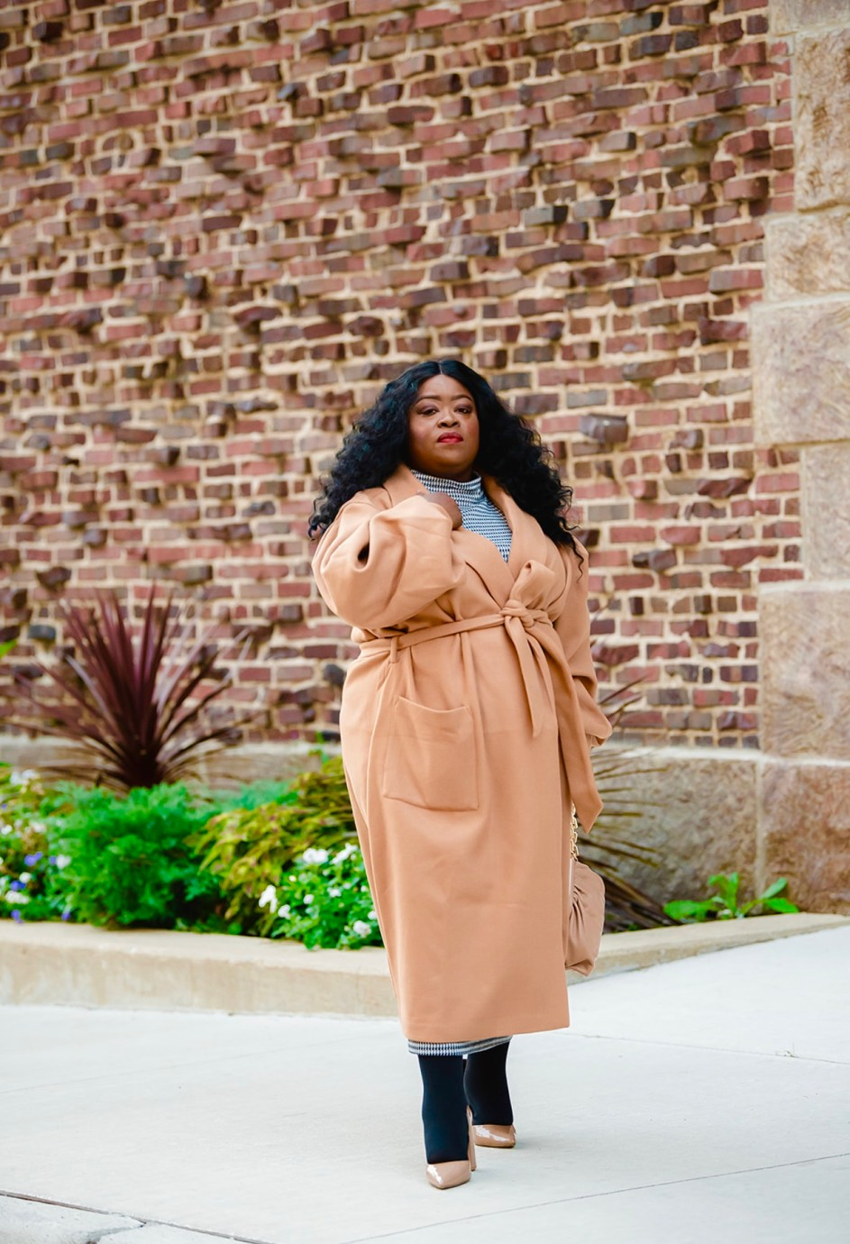 Plus-Size Fall Staple | Camel Coat, plus-size coat