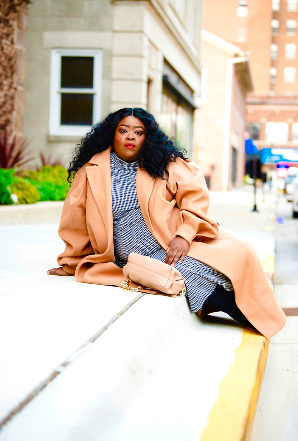Plus-Size Fall Staple | Camel Coat
