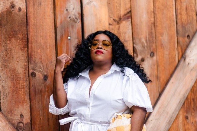 8 must-haves Eloquii all-white dresses, chloes sunnies