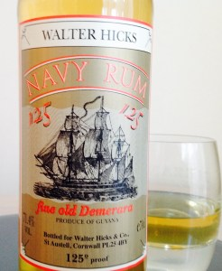 Walter Hicks 125 Navy rum review by the fat rum pirate