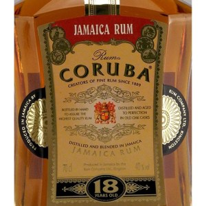 Rum Coruba 18 Year Old rum review by the fat rum pirate