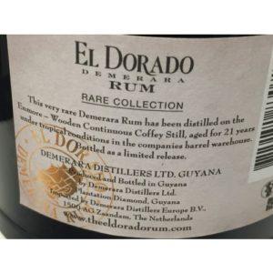 El Dorado Rare Collection Enmore 1993 Rum Review by the fat rum pirate