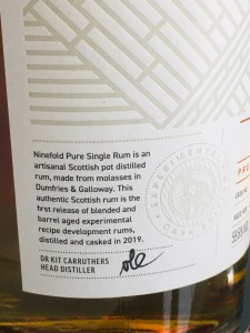 Ninefold Distillery Barrel Aged Pure Single Rum - Release #1 Rum review by the fat rum pirate