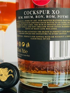 Cockspur XO Master's Select Rum review by the fat rum pirate