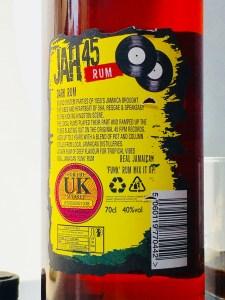 Jah 45 Dark Rum Jamaican Rum review by the fat rum pirate