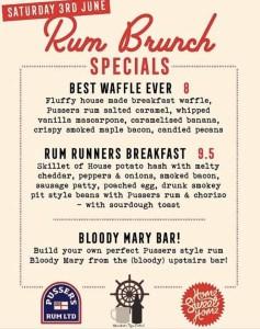 Pusser's Rum Runners Brunch