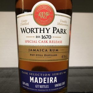 Worthy Park Special Cask Release Madeira rum review by the fat rum pirate