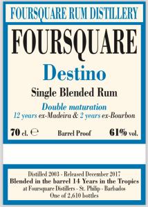 Foursquare Rum Distillery Destino Velier 70th Anniversay Release Rum Review by the fat rum pirate
