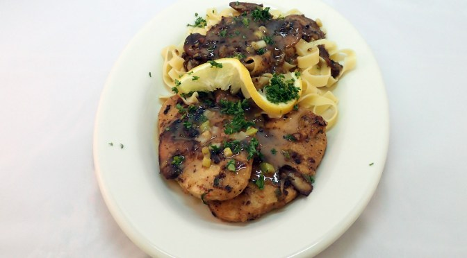 """chicken"" marsala in a butter sauce"