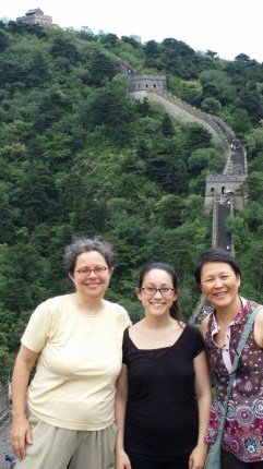 Miki, Ya-Ping and Kanya at the Great Wall