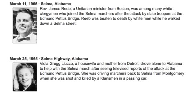 White martyrs