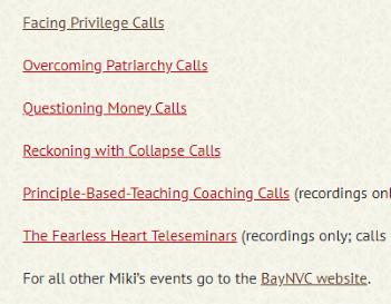 Recordings of Miki's Free Calls