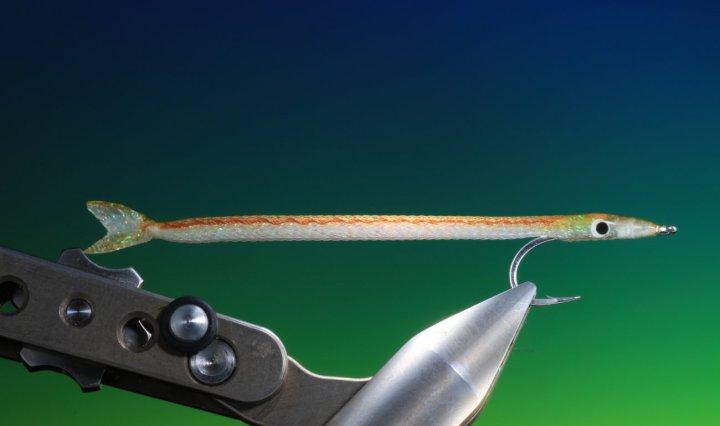 E-Z sand eel streamer tied by Barry Ord Clarke