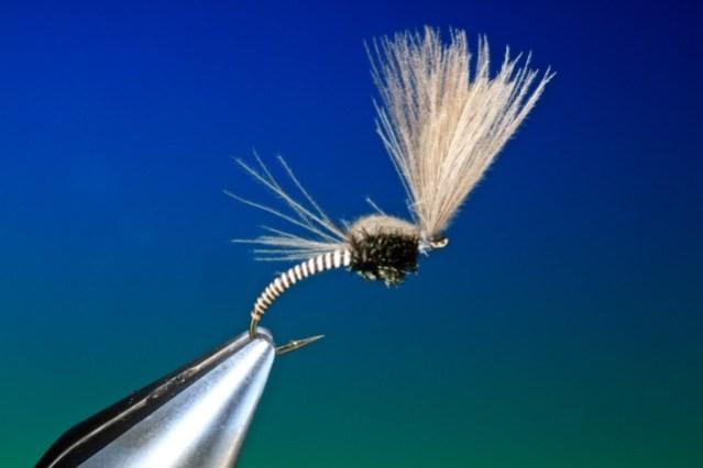 fly tying Moose mane midge emerger