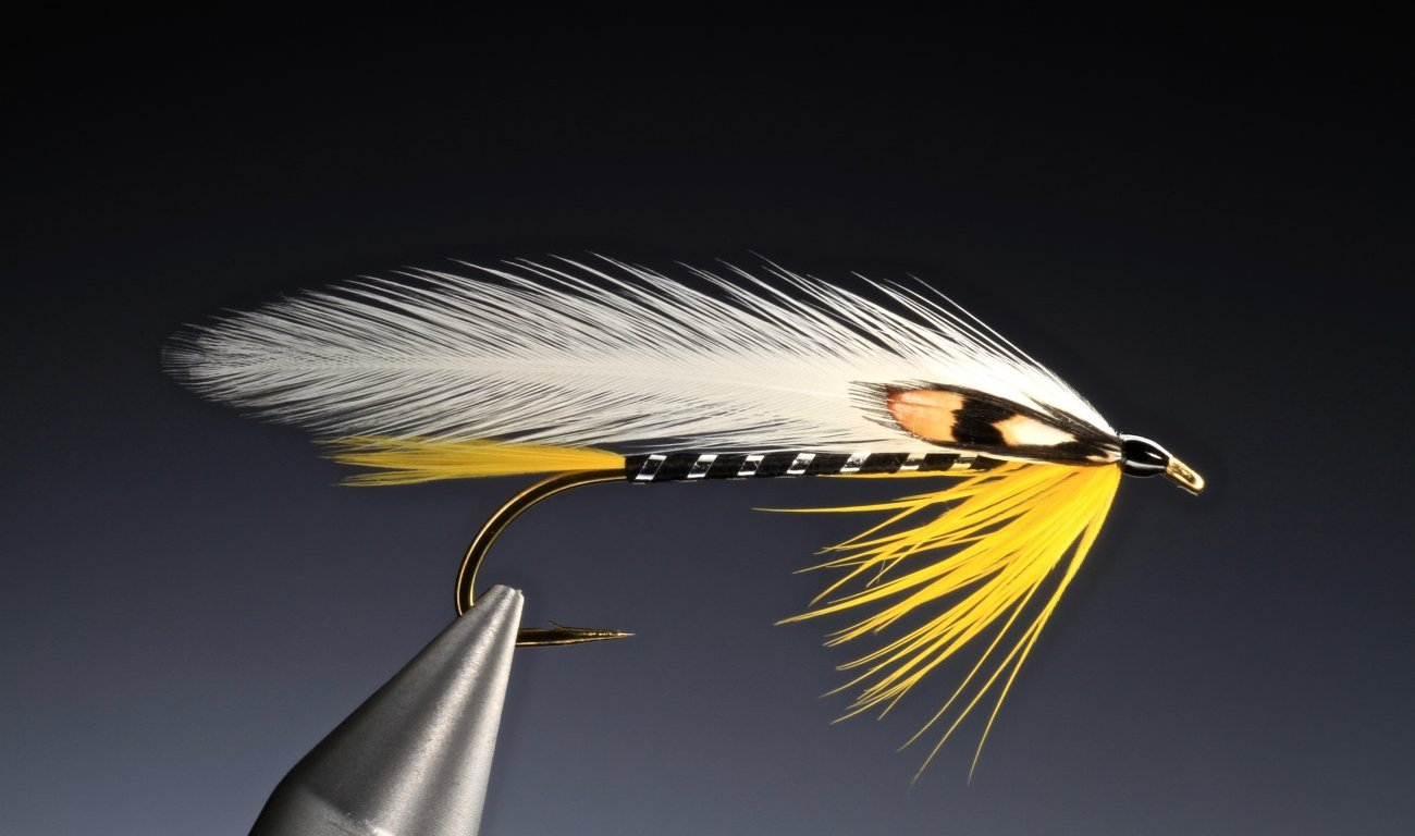 Black Ghost feather wing streamer tied by Barry Ord Clarke