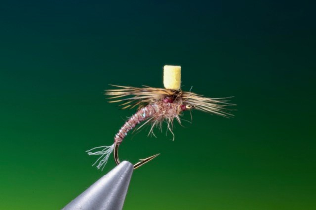 fly tying Foam Post March Brown emerger