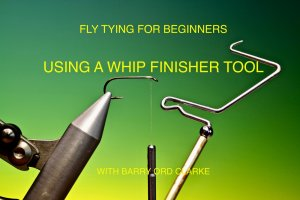 How to using Whip finisher tying tool