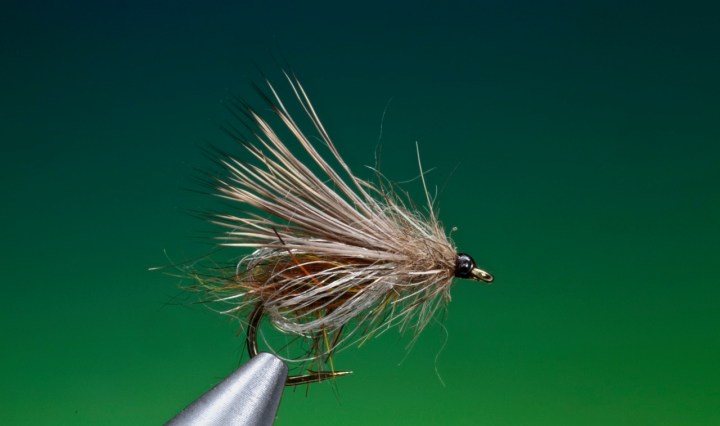 Deep sparkle pupa variant tied by Barry Ord Clarke