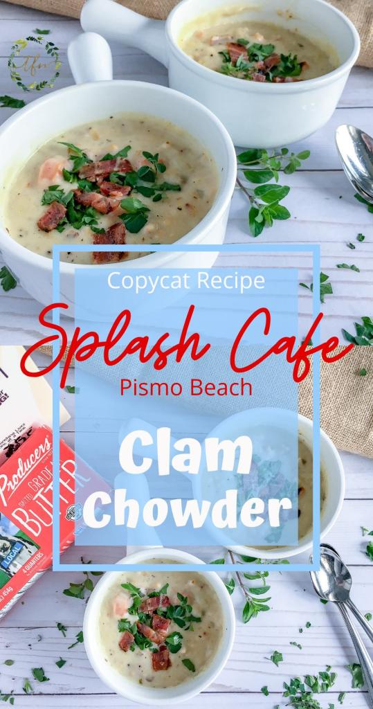 Splash Cafe copycat clam chowder recipe