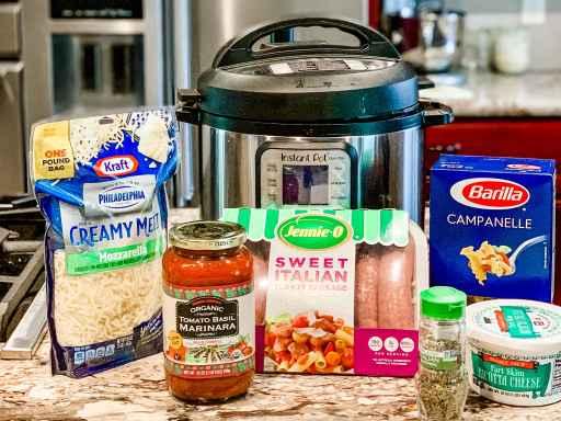 Instant Pot easy lasagna cooking ingredients