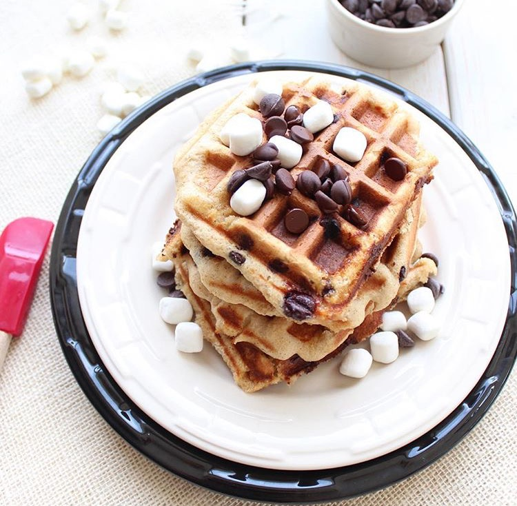 S'mores Waffles via whitneybond