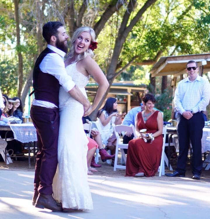 Bride and Groom at the Rawhide Ranch - The February Fox