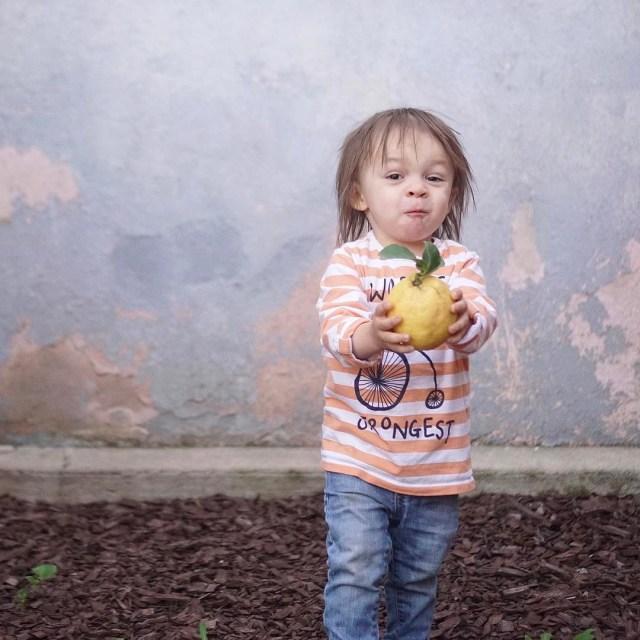 Pleased as pie that he picked himself a lemon Hereshellip