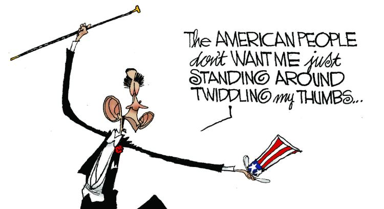 Cartoon Expresses How Obama Views His Job And Constitution