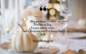 """Thanksgiving Day Wish"""" Quote"""