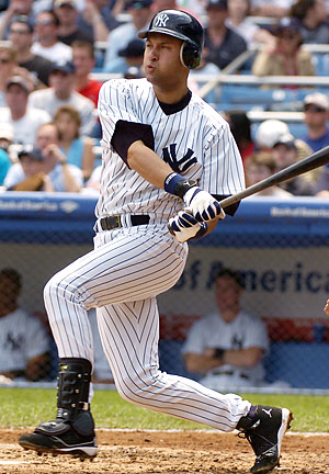Derek Jeter needs 297 hits to reach 3000 hits.