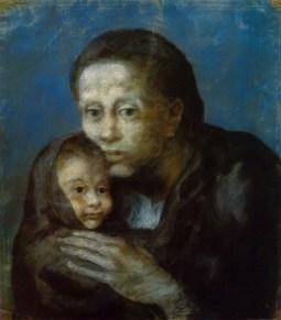 Desemparats (Maternité, Mère et enfant au fichu, Motherhood), 1903