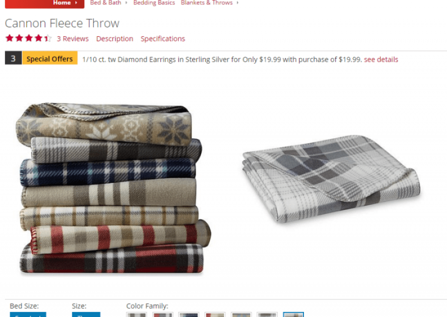 Kmart has Cannon Fleece Throw for $1.99 (members only)