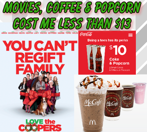 Movies, Coffee & Popcorn all for $12.88