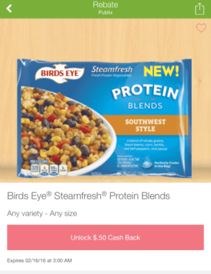 Publix Birds Eye Protein Blends as low as $0.05 each w/ coupon & Ibotta app