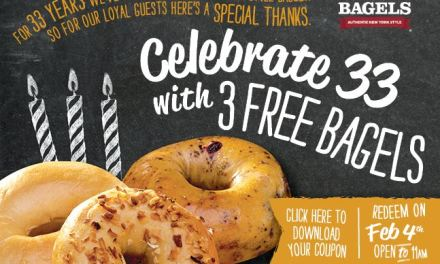 Ready to Get your 3 FREE BAGELS from Bruegger's Today Only till 11am