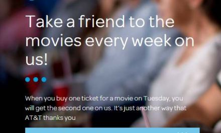 AT&T Customers you can get BOGO movie Tickets (find out how)