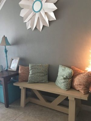 Providence Wood Bench (easy to make and for about $22)
