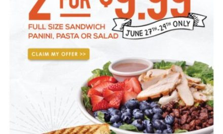 Corner Bakery 2 for $9.99 (ck your email)