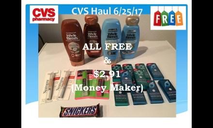 CVS 6/25/17 all free $2.91 money maker