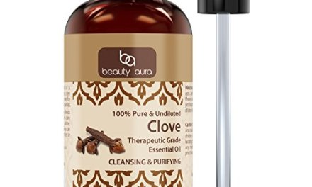 Beauty Aura Clove Essential Oil * 4 Oz. Bottle * Pure Therapeutic Grade Cloves oil Aromatherapy, Hair Care, Skin Care & Natural Remedies