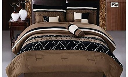 Luxlen 7 Piece Embroidered Comforter Set, Queen, Closeout